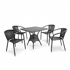 Комплект мебели 4+1 T197BS/ Y137B- W51 иск. ротанг