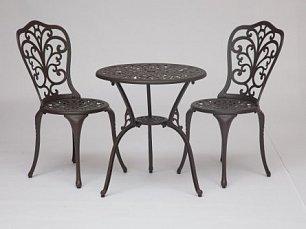 Жардин комплект Романс: стол + 2 стула бронза
