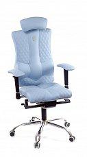 ELEGANCE кресло рабочее светло-синее (перфорированное)