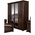 Нотти шкаф 4 дверный с 2 зеркалами MK-1717-DN