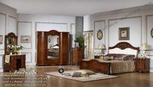 Бриджида спальня комплект:кровать 1,8+тумба прикроватная 2+стол туалетный с зеркалом+шкаф 3дверный