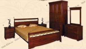 Агата спальня орех