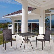 Комплект мебели 2+1 T282BNT-W2390/Y282-W52 Brown 2Pcs иск. ротанг