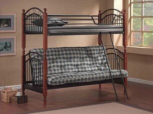 Агата кровать 90/140х190 двухъярусная (PS-618) орех