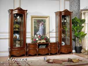 Моника витрина 1 дверная орех