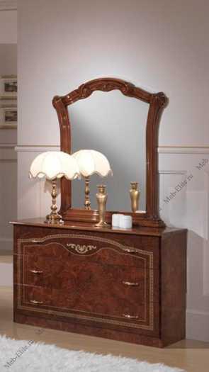 Ирина комод с зеркалом орех