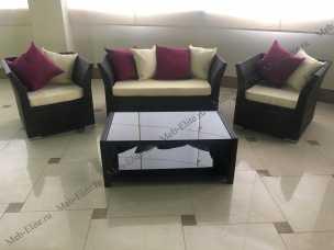 Мик ротанг комплект MK-3631-RB: кресло 2 местное S15-2 + 2 кресла S15-1 + кофейный столик ST16