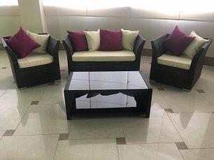Мик комплект MK-3631-RB: кресло 2 местное S15-2 + 2 кресла S15-1 + кофейный столик ST16 иск. ротанг