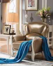 Карпентер 309 кресло А (кожа) слоновая кость