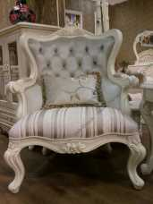 Белый Цветок кресло мягкой мебели с пуговицами МТ8832/МТ8830