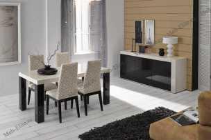 Инес столовая комплект: стол обеденный Инес 160/220х85 + буфет Адан-3 + стулья Ада 4 шт.