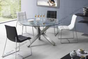 ЕСФ столовая комплект: стол обеденный 135/135 BZ951 + стулья BZ500S 4 шт.
