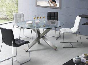 ЕСФ столовая комплект: стол обеденный 135/135 BZ951 + стулья BZ500S 4 шт. глянец