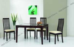 Бенсон столовая комплект: стол обеденный Бенсон 120/240х90 + 6 стульев Сесилия