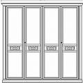 Жиневра шкаф 4 дверный (бежевый)