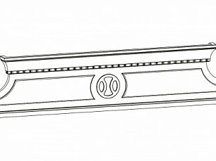 Набукко панель декоративная для комода спальни (орех)