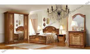 Карина 1 спальня орех глянец