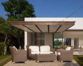 Ротанг Либрари комплект: диван 2 местный+стол журнальный+2 кресла
