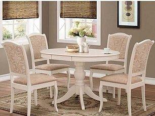 Мик столовая комплект: стол обеденный 90/125х90 MK-1607-IV + 4 стула  MK-1608-IV