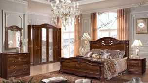 Сорренто 1 Д 2 (SL) спальня темный орех