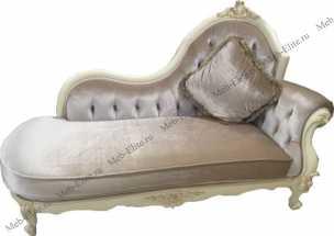 Белый Цветок диван/банкетка 8801-В ткань 8835 с пуговицами