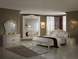 Диана спальня комплект: кровать 160 + 2 тумбы + комод + 4 дв шкаф беж