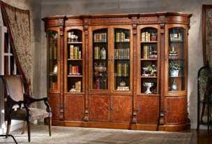 Луи 16 (Louis XVI) шкаф книжный угл+1+2+1+угл