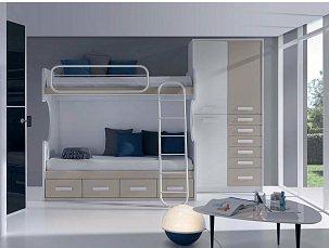 Данза детская 10: кровать 2ярусная +шкаф комбинированный с комодом