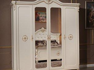 Сафина Аворио шкаф 4 дверный с зеркалом