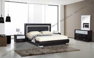 Амидала спальня комплект: кровать 160 + комод + 2 тумбы + шкаф 4 дверный (шкаф-купе 2 дверный)