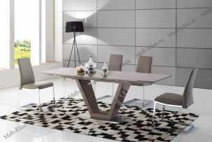 ЕСФ столовая комплект: стол обеденный 160/220х90 HT2135  + стулья HD6101 4 шт.