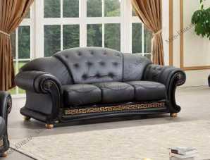 Версаче 3 местный диван черный