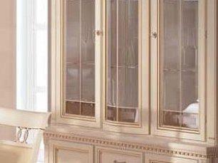 Венеция витрина 3 дверная фасад витраж (белая)