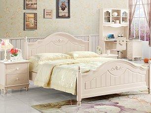 Розалин спальня детская комплект: кровать 120х200+тумба прикроватная+туалетный стол+банкетка+шкаф 2 дверный