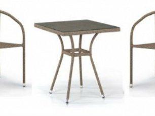 Комплект мебели 2+1 T282BNT/Y137C-W56 Light Brown 2Pcs иск. ротанг