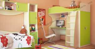 Комби МН-211 спальня комплект: 2-дверный шкаф (МН-211-16) + кровать (МН-211-01) + комод (МН-211-24) + стол (МН-211-05)