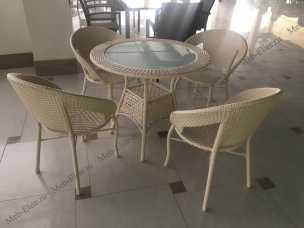 Мик ротанг комплект MK-3602-MW: стол обеденный 84х84 T29А + 4 стула Y-40