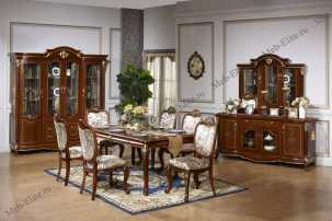 Тифани 3229 столовая комплект: витрина, комод с/з, стол обед., стул 6 шт