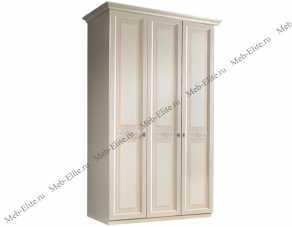 Анна шкаф 3 дверный без зеркал штрих лак