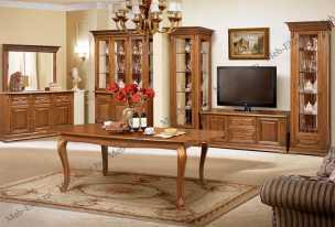 Витовт гостиная комплект: Витрины левая+правая + тумба ТВ орех