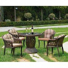 Комплект мебели 4+1 RT-A92 Brown  4Pcs иск. ротанг