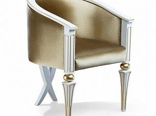 Зиббо кресло арт. 150б белый с золотом