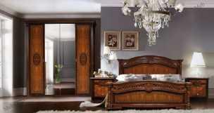 Карина 2 спальня темный орех глянец