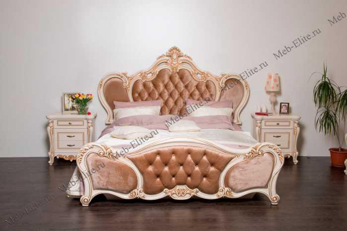 Беатрис спальня комплект: кровать 180х200+2 тумбы прикроватные+стол туалетный с зеркалом