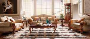 Карпентер 230-1  диван С 2 местный раскладной (Орех, ткань ST9-4)