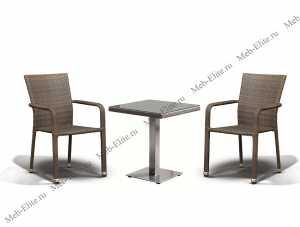 Ротанг Ачиано: комплект:стол кофейный 70х70+2 полукресла