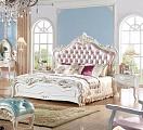 Флорентина спальня комплект: кровать 180х200 арт. 1109 + 2 тумбы прикроватные арт. 11-B + туалетный стол арт. 1105 + пуф + шкаф 4 дверный