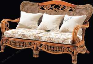 Ротанг Элизабет 2 местный диван