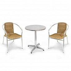 Комплект мебели 2+1 LFT-3099A/T3127-D60 Cappuccino 2Pcs алюминий