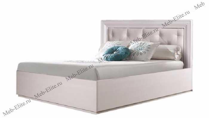 Амели кровать 90х200 с мягким элементом беленый дуб